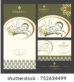 set of vector spa massage card...   Shutterstock .eps vector #752634499