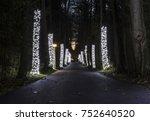 christmas lights decorating... | Shutterstock . vector #752640520
