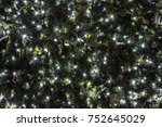 christmas lights and... | Shutterstock . vector #752645029