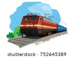 Illustration Of Indian Train