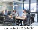 group of a young business... | Shutterstock . vector #752646880