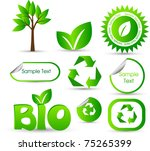 environmental elements stickers ... | Shutterstock .eps vector #75265399