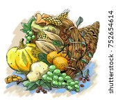 Illustration Of A Thanksgiving...