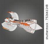 turbo jet engine aircraft.... | Shutterstock .eps vector #752661148