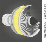 turbo jet engine aircraft.... | Shutterstock .eps vector #752661154