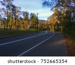 australian country road amid... | Shutterstock . vector #752665354