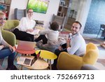 group of a young business... | Shutterstock . vector #752669713