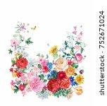the visual enjoyment of flowers ... | Shutterstock . vector #752671024