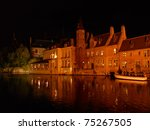 bruges by night | Shutterstock . vector #75267505