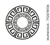 greek style ornamental... | Shutterstock .eps vector #752678536