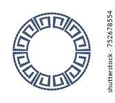 greek style ornamental... | Shutterstock .eps vector #752678554