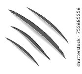 animal claws scratches. claw...   Shutterstock .eps vector #752685256