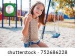 children playground. cute... | Shutterstock . vector #752686228
