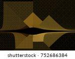 Intricate Yellow   Brown Squar...