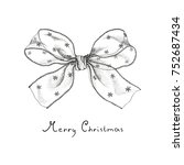 christmas bow of transparent... | Shutterstock .eps vector #752687434