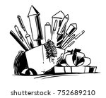 firecrackers in the gift box | Shutterstock .eps vector #752689210