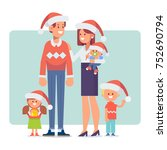merry christmas and new year.... | Shutterstock .eps vector #752690794