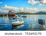 istanbul  turkey view of boats... | Shutterstock . vector #752693170