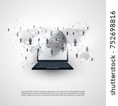 networks   global business... | Shutterstock .eps vector #752698816