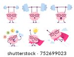 very strong  healthy and smart... | Shutterstock .eps vector #752699023