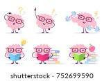 enjoyable education brain... | Shutterstock .eps vector #752699590