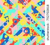 abstract 1980 memphis geometric ...   Shutterstock .eps vector #752702818
