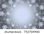abstract gray winter background ... | Shutterstock . vector #752704900