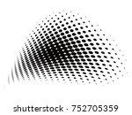 vector halftone backgrounds | Shutterstock .eps vector #752705359