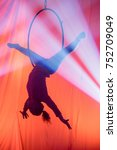 acrobat woman in light and... | Shutterstock . vector #752709049