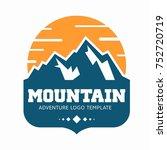 mountain logo. suitable for... | Shutterstock .eps vector #752720719