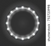circle black frame  box  banner ... | Shutterstock .eps vector #752723998