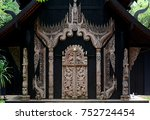 baandam the thai lanna style... | Shutterstock . vector #752724454
