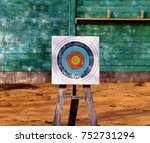 close up of archery target on...   Shutterstock . vector #752731294