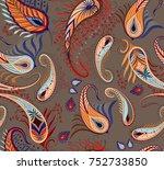 elegant pattern for using as... | Shutterstock .eps vector #752733850
