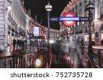 london november  2017  view of... | Shutterstock . vector #752735728