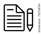 write line icon | Shutterstock .eps vector #752738704