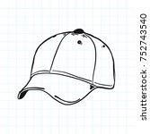 hat baseball doodle | Shutterstock .eps vector #752743540