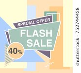 super sale modern banner in the ... | Shutterstock .eps vector #752744428