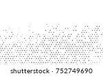 dark silver  gray vector banner ...   Shutterstock .eps vector #752749690