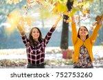having fun outside in the late... | Shutterstock . vector #752753260