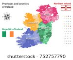 provinces and counties of... | Shutterstock .eps vector #752757790