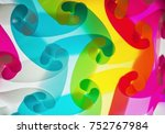 rainbow lamps in thailand  | Shutterstock . vector #752767984