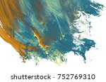 colorful oil art stroke design... | Shutterstock . vector #752769310