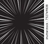 comic speed radial background | Shutterstock .eps vector #752769838