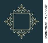 rosette wicker border... | Shutterstock . vector #752770909
