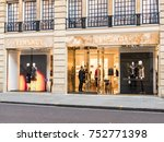 Small photo of An exterior view of the Versace store on Sloane Street in Knightsbridge, London, November 2017.