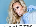 portrait of beautiful  sexy...   Shutterstock . vector #752777038
