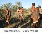 ghanzi  botswana   may 14  san... | Shutterstock . vector #752779150