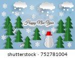 happy new year. illustration...   Shutterstock .eps vector #752781004