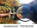 autumn rakotzbrucke in germany | Shutterstock . vector #752781553